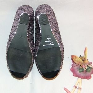 10c097572f37 BONGO Shoes - Bongo Rockstar Purplish Silver Sequined Wedge 7
